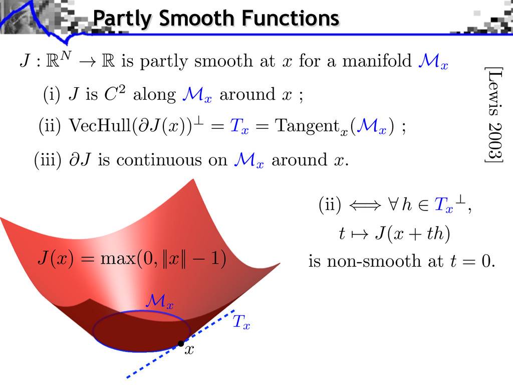 (iii) @J is continuous on M x around x. [Lewis ...