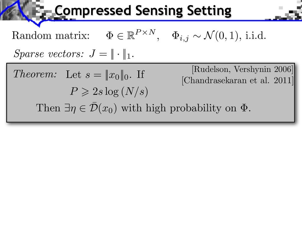 Theorem: Random matrix: i,j ⇠ N(0, 1), i.i.d. S...