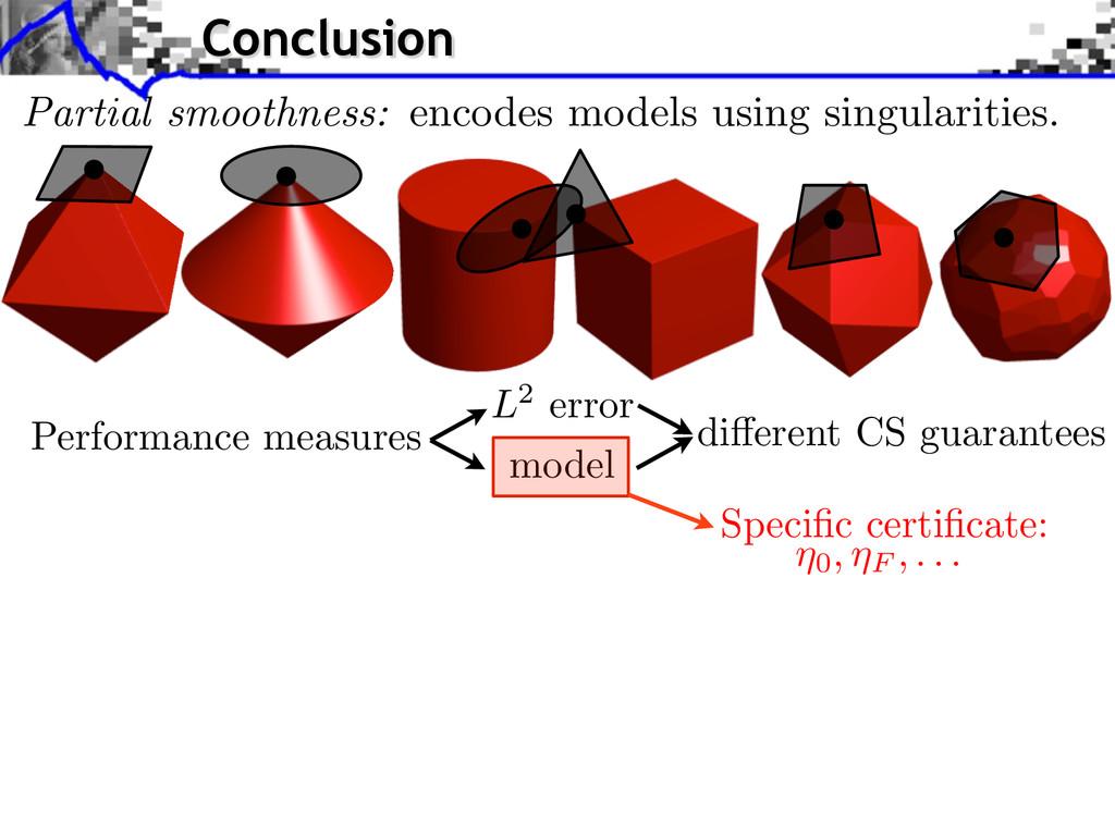Performance measures L2 error model di↵erent CS...
