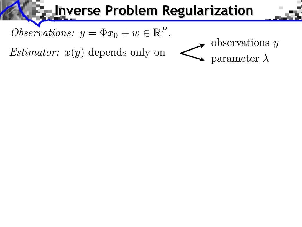 Inverse Problem Regularization observations y p...