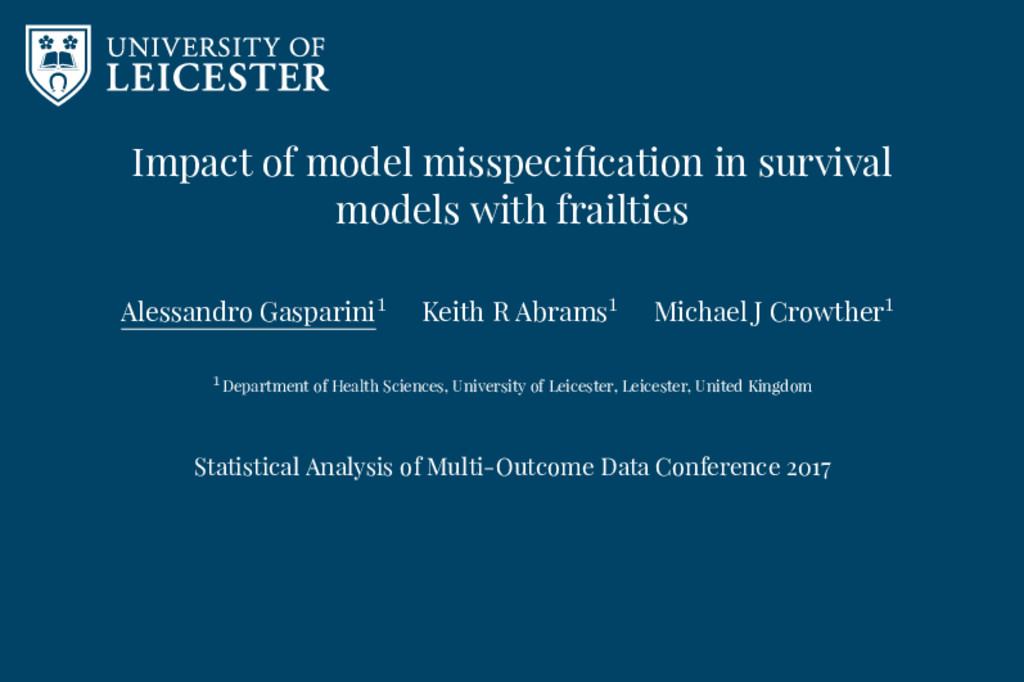 Impact of model misspecification in survival mod...