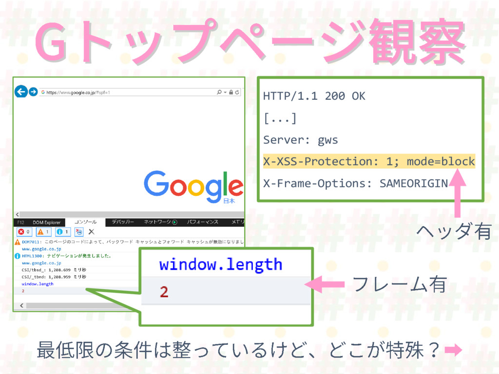 HTTP/1.1 200 OK [...] Server: gws X-XSS-Protect...