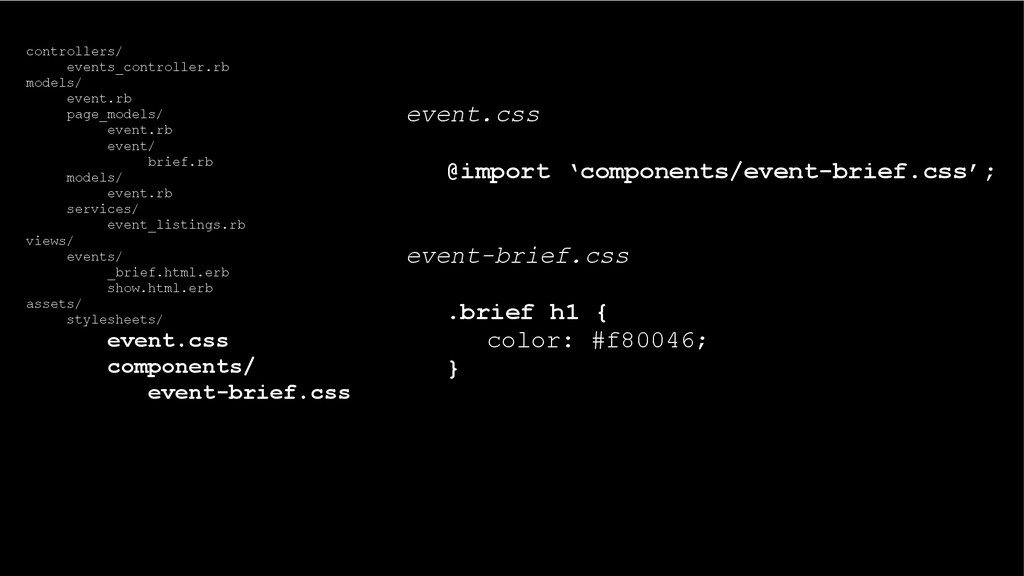 event.css @import 'components/event-brief.css';...