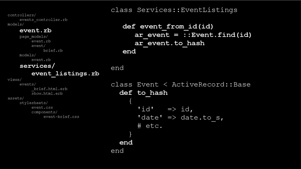 class Services::EventListings def event_from_id...