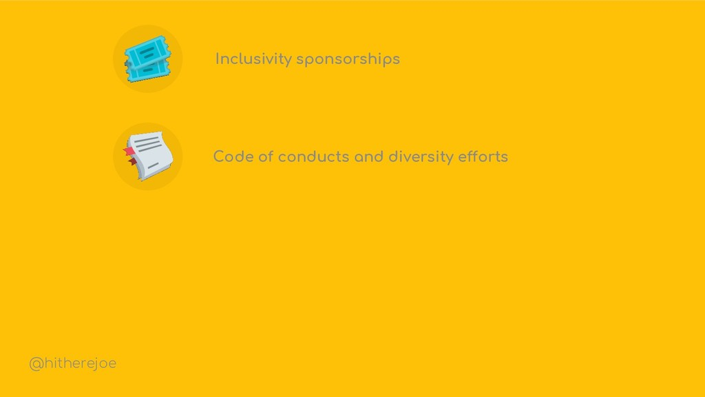 Inclusivity sponsorships Code of conducts and d...