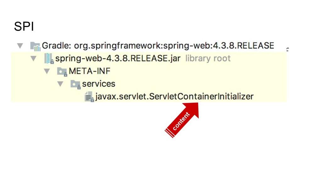 SPI org.springframework.web.SpringServletContai...