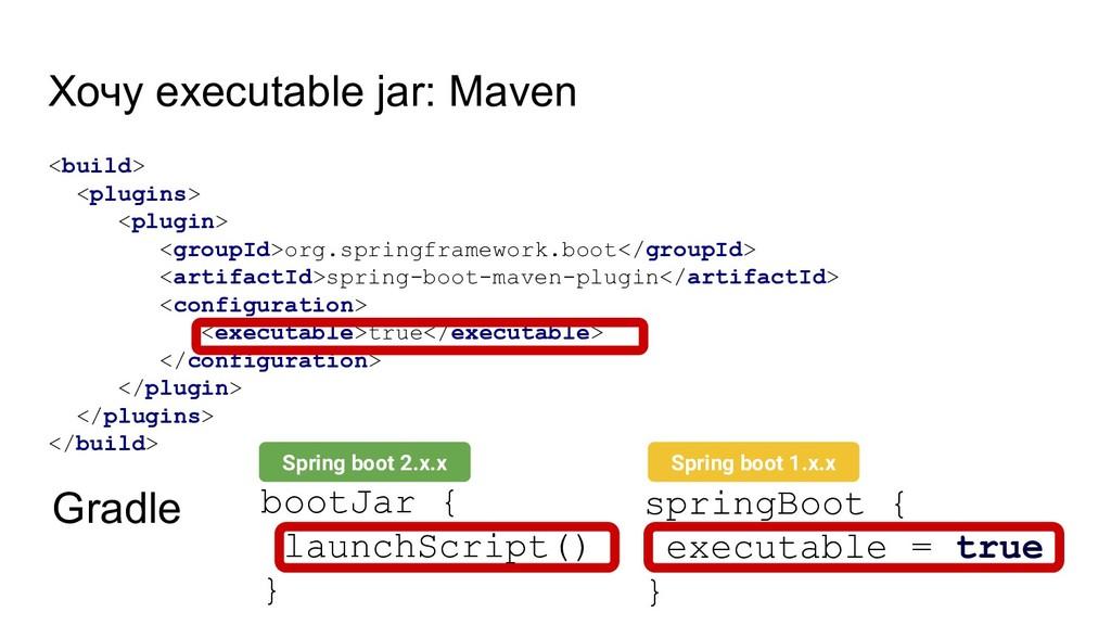 Хочу executable jar: Maven <build> <plugins> <p...