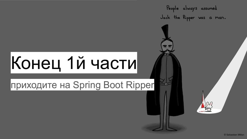 Конец 1й части приходите на Spring Boot Ripper