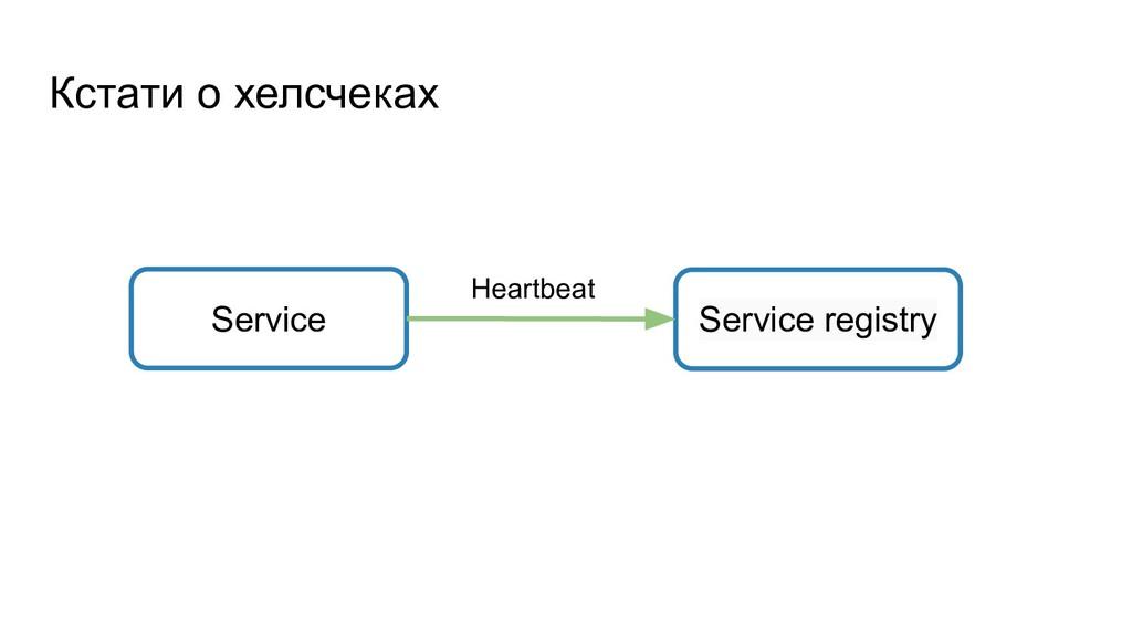 Кстати о хелсчеках Service Service registry Hea...