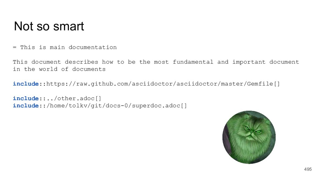 Not so smart = This is main documentation This ...