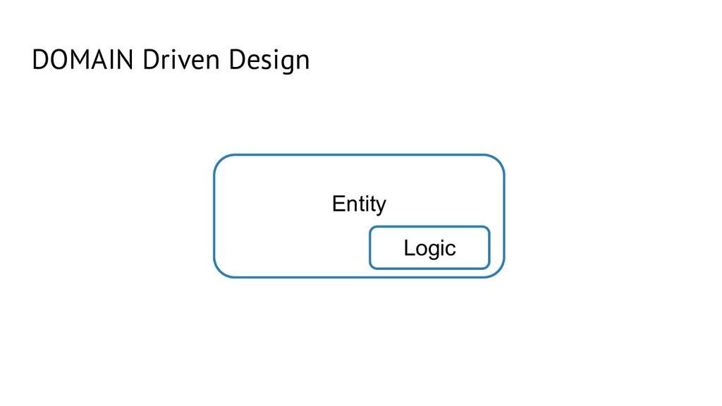 DOMAIN Driven Design Entity Logic