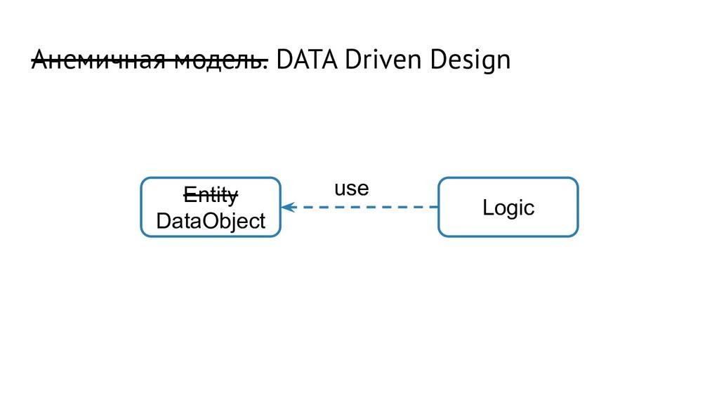 Анемичная модель. DATA Driven Design Entity Dat...