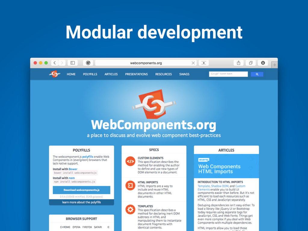 Modular development