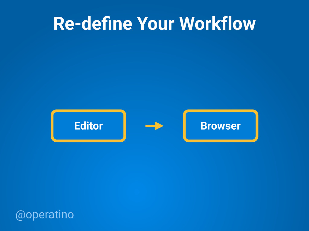 @operatino Re-define Your Workflow Editor Browser