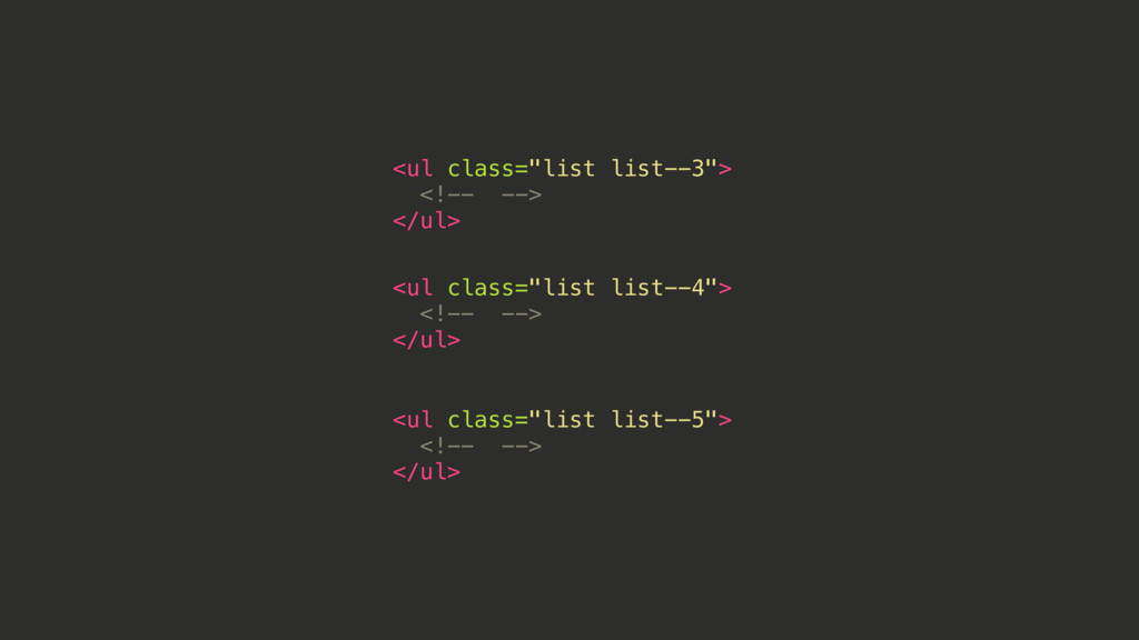 "<ul class=""list list--3""> <!-- --> </ul> <ul cl..."