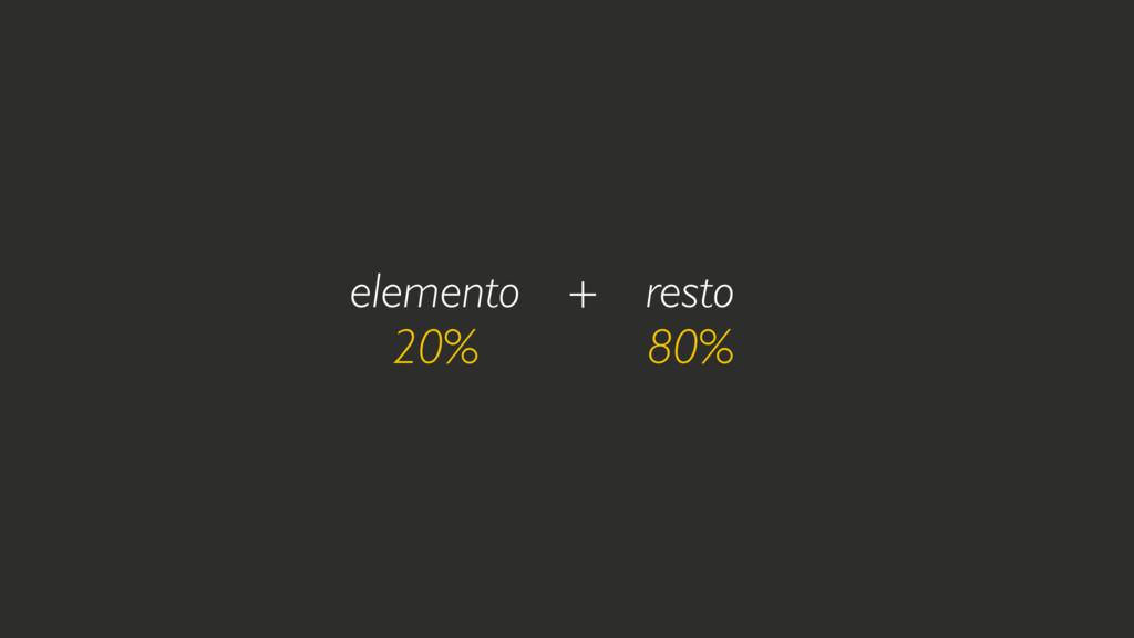 elemento 20% resto 80% + margin 40% margin 40% +