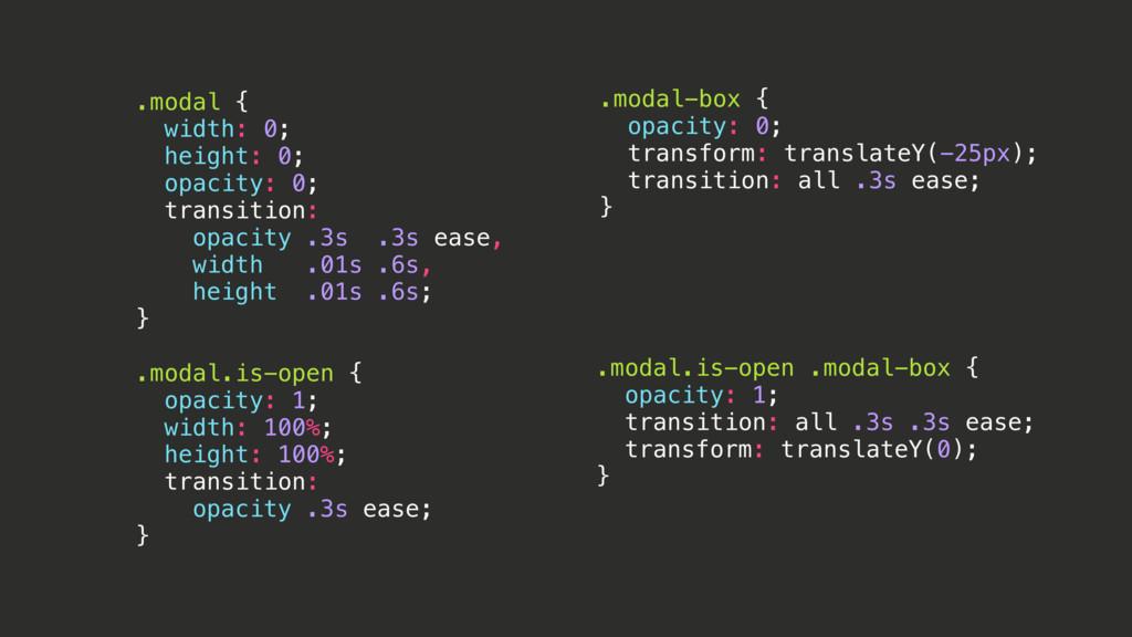 .modal-box { opacity: 0; transform: translateY(...