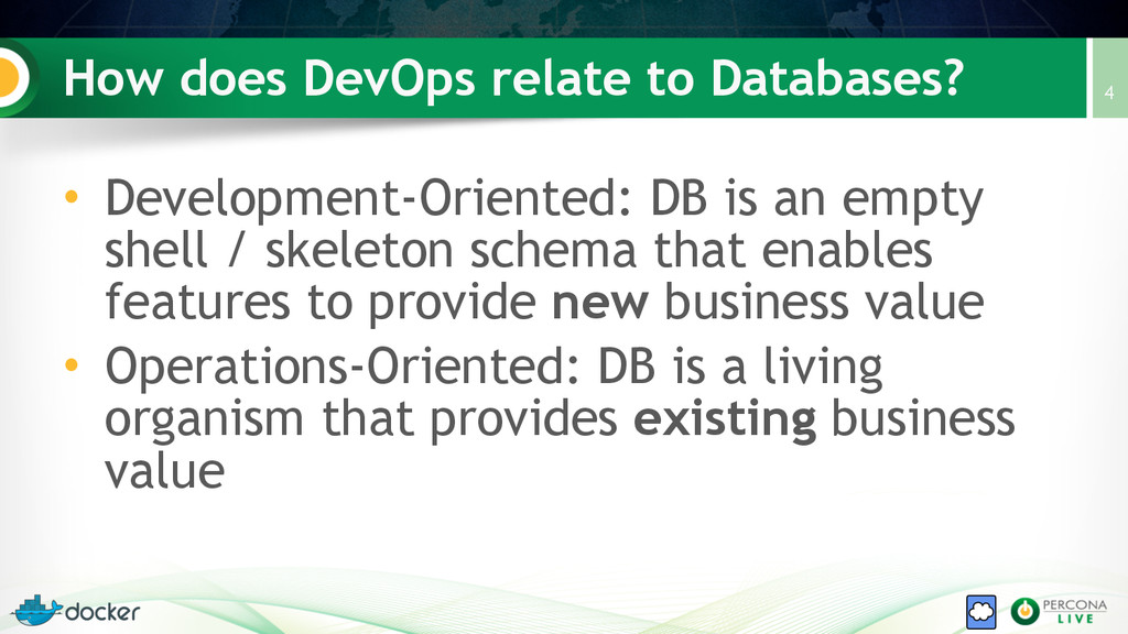 How does DevOps relate to Databases? • Developm...