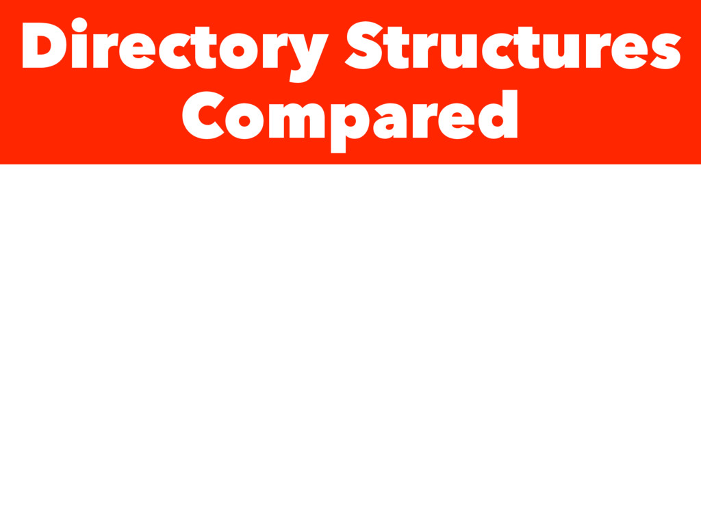 Directory Structures Compared