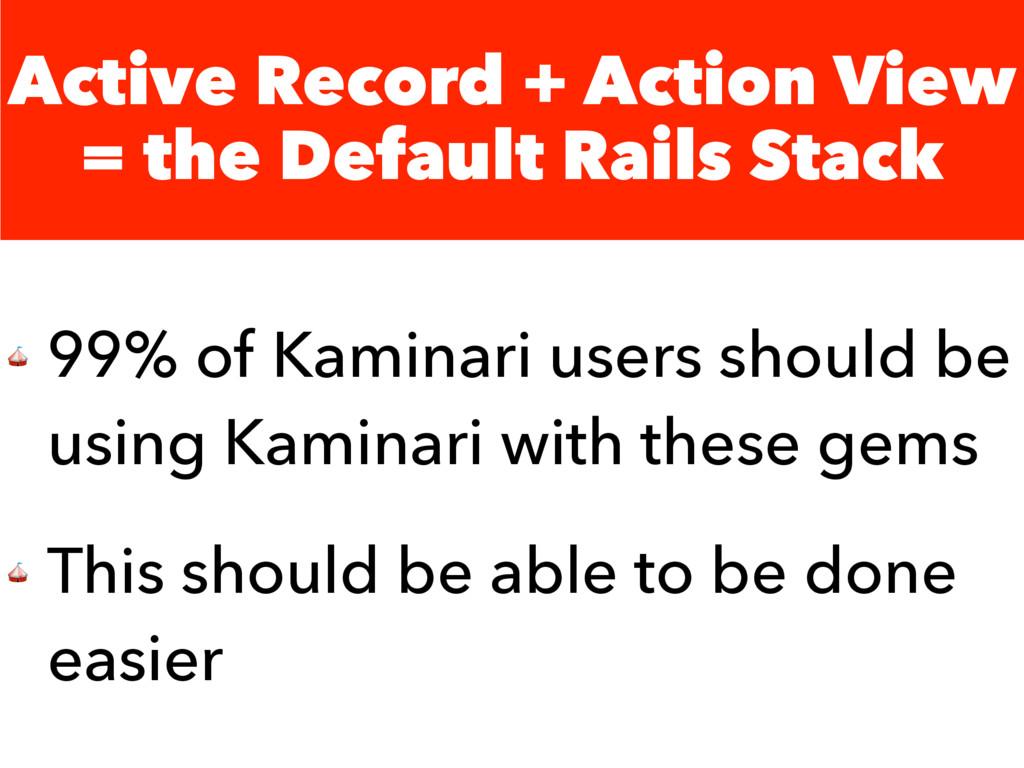 Active Record + Action View = the Default Rails...