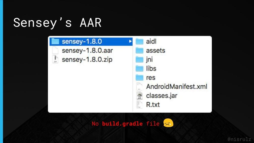 Sensey's AAR @nisrulz No build.gradle file