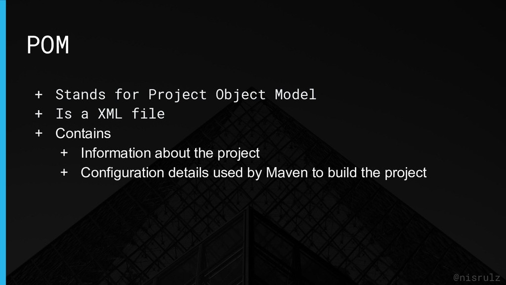 POM @nisrulz + Stands for Project Object Model ...