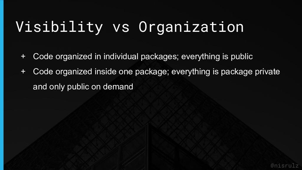 Visibility vs Organization @nisrulz + Code orga...