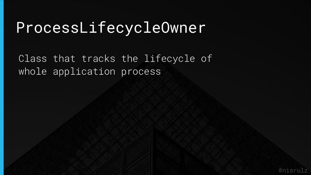 ProcessLifecycleOwner @nisrulz Class that track...