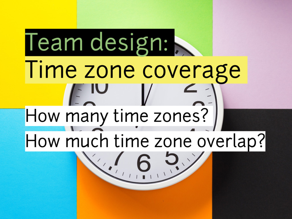 Team design: Time zone coverage How many time z...