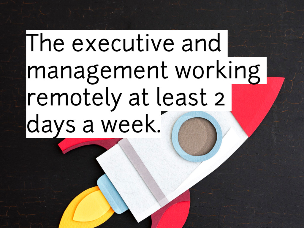The executive and management working remotely a...