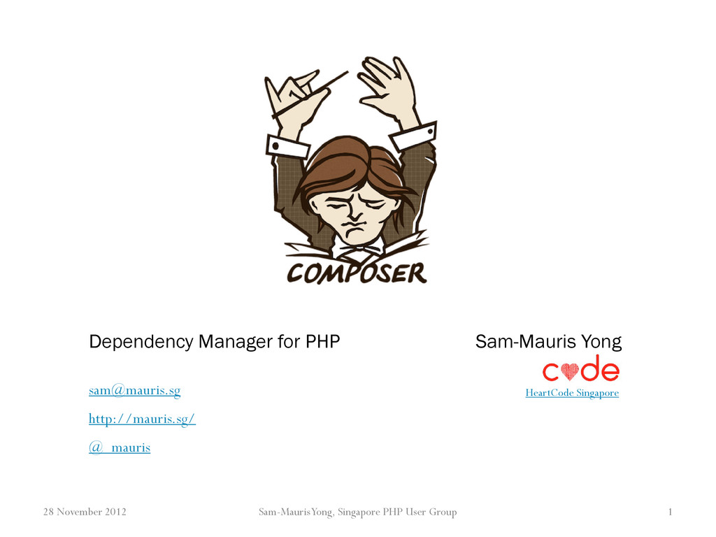 Dependency Manager for PHP Sam-Mauris Yong Hear...