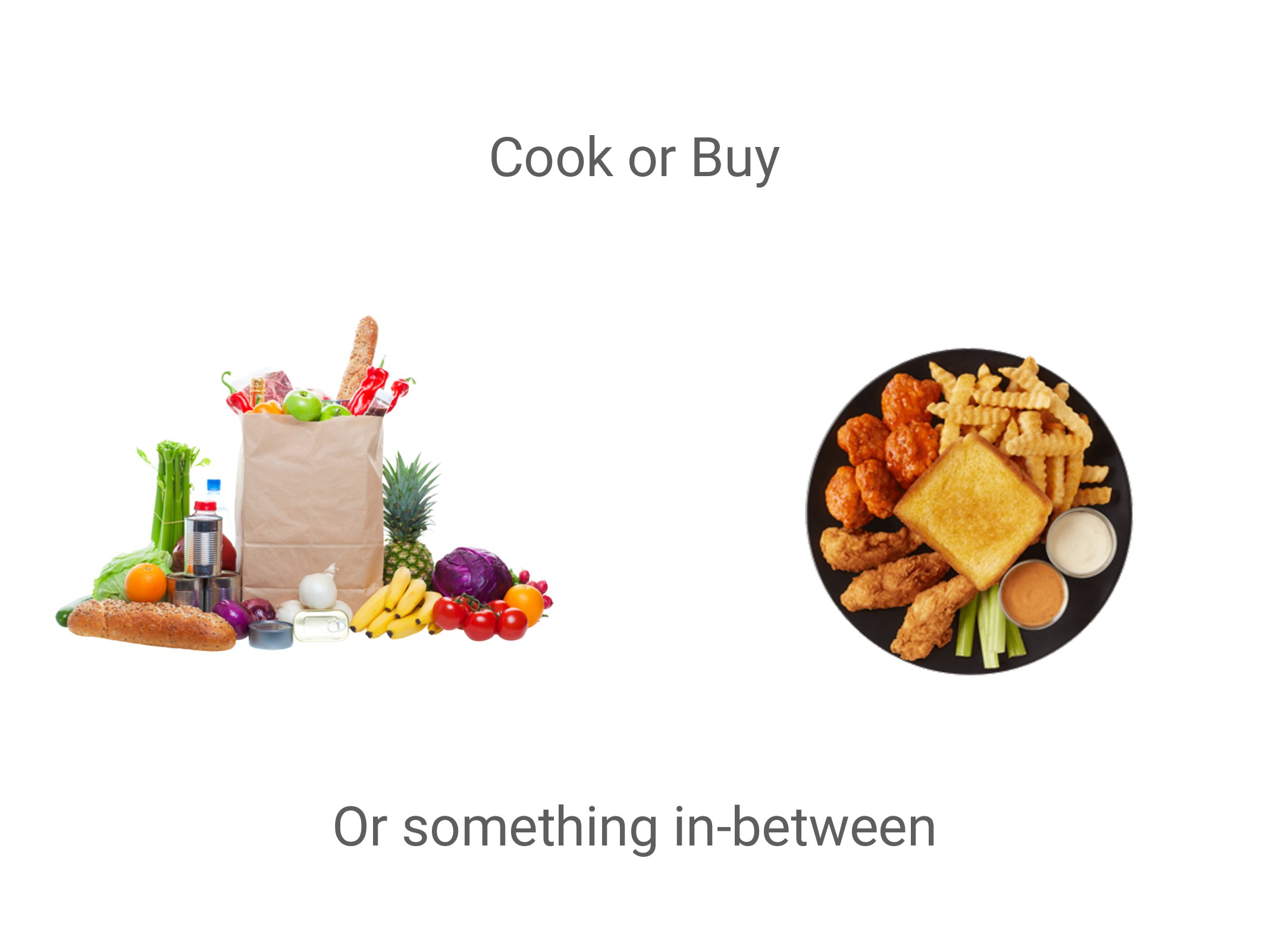 Or something in-between Cook or Buy