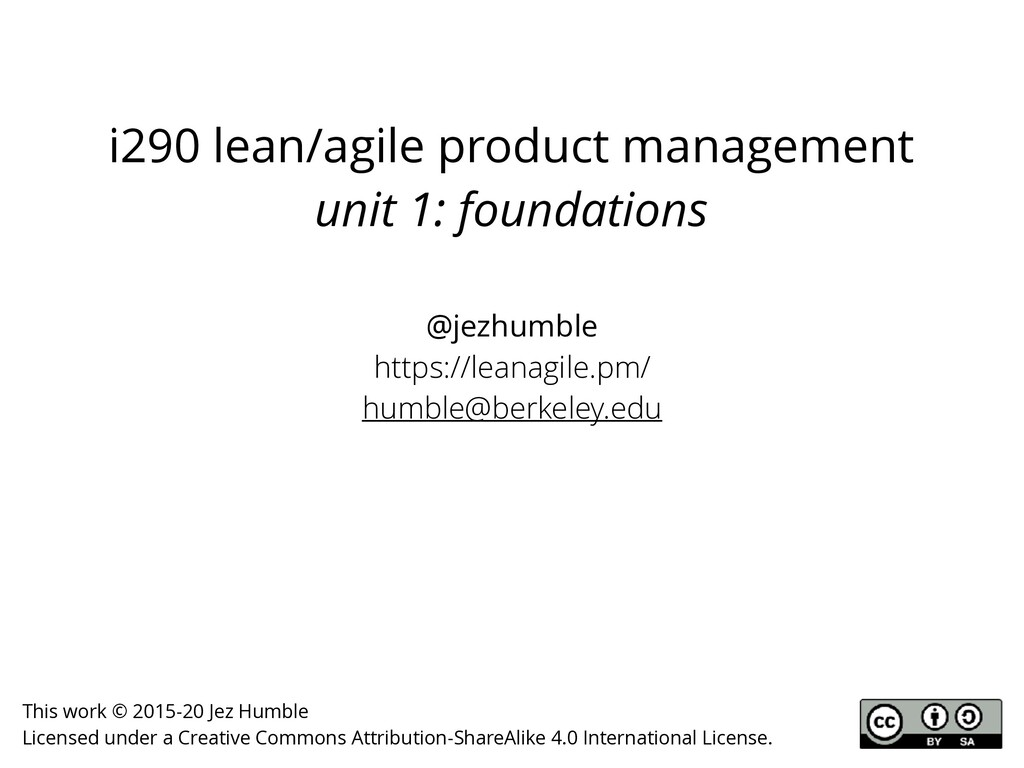 i290 lean/agile product management unit 1: foun...