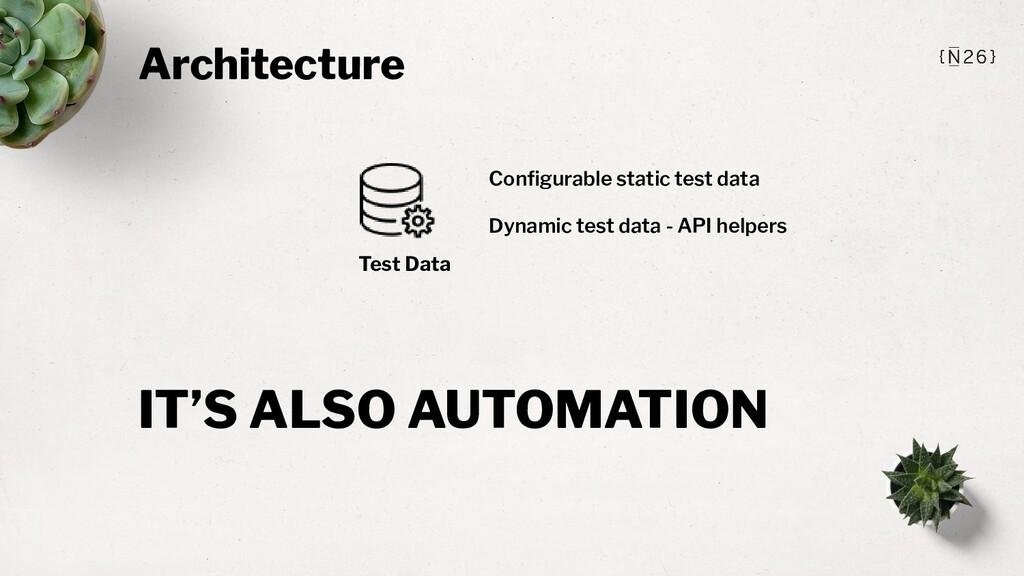 Architecture Test Data Configurable static test ...