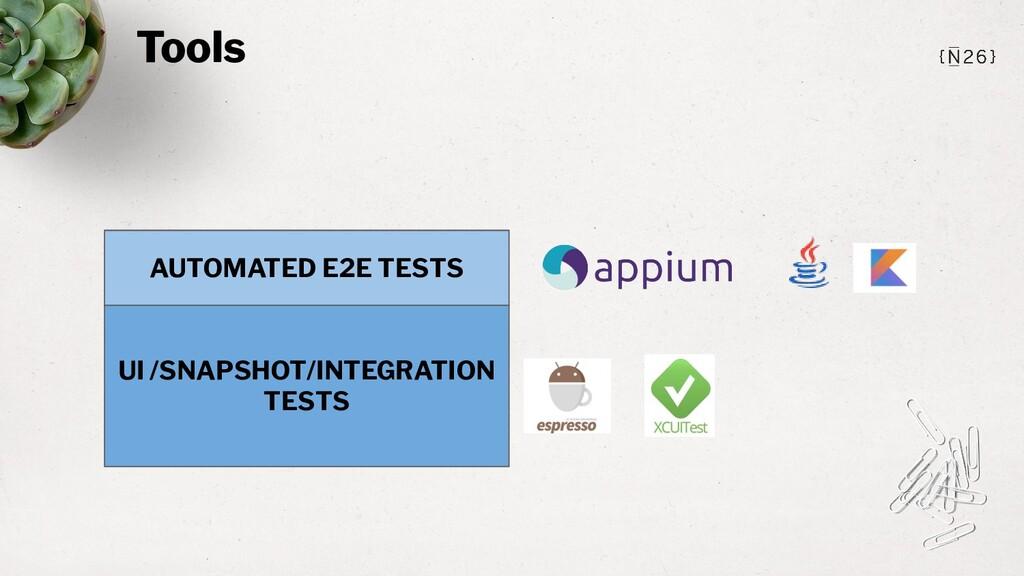 Tools UI /SNAPSHOT/INTEGRATION TESTS AUTOMATED ...
