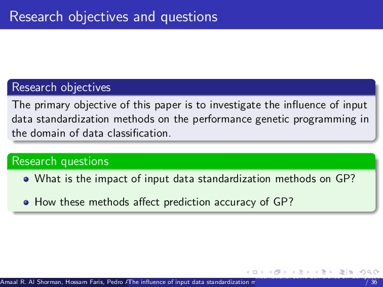 Research objectives and questions Research obje...