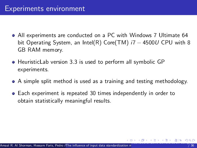 Experiments environment All experiments are con...