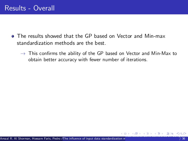 Results - Overall The results showed that the G...