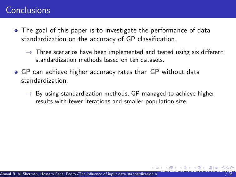 Conclusions The goal of this paper is to invest...