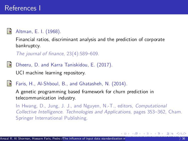 References I Altman, E. I. (1968). Financial ra...