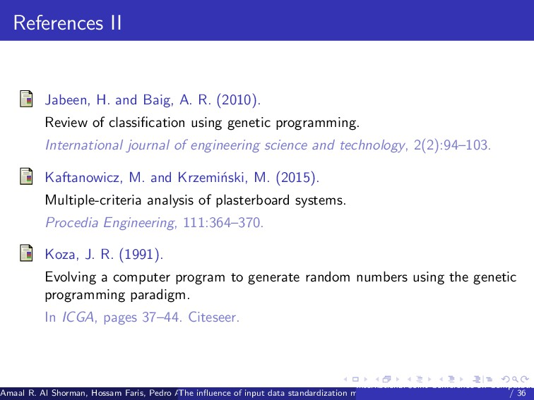 References II Jabeen, H. and Baig, A. R. (2010)...