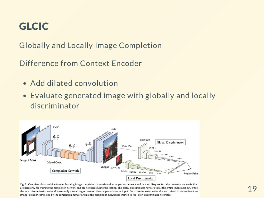 GLCIC Globally and Locally Image Completion Dif...