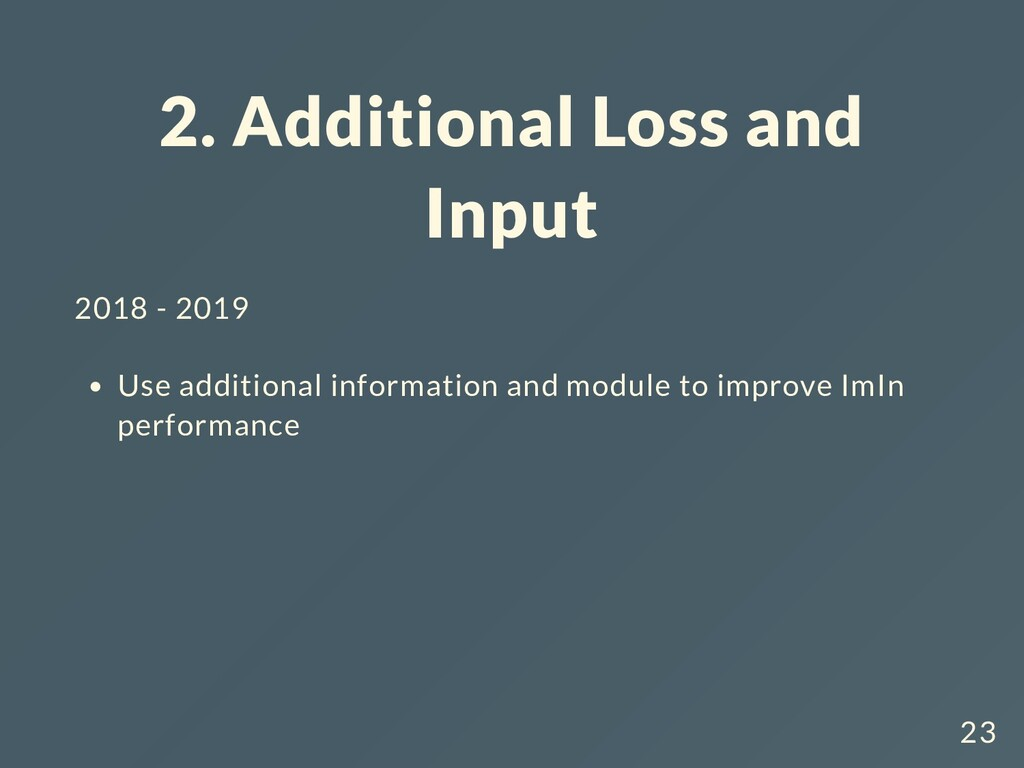 2. Additional Loss and Input 2018 - 2019 Use ad...