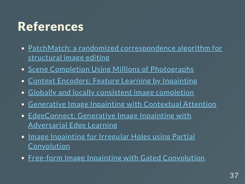 References PatchMatch: a randomized corresponde...