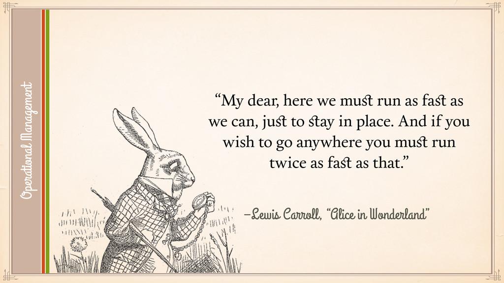 """–Lewis Carroll, """"Alice in Wonderland"""" """"My dear,..."""