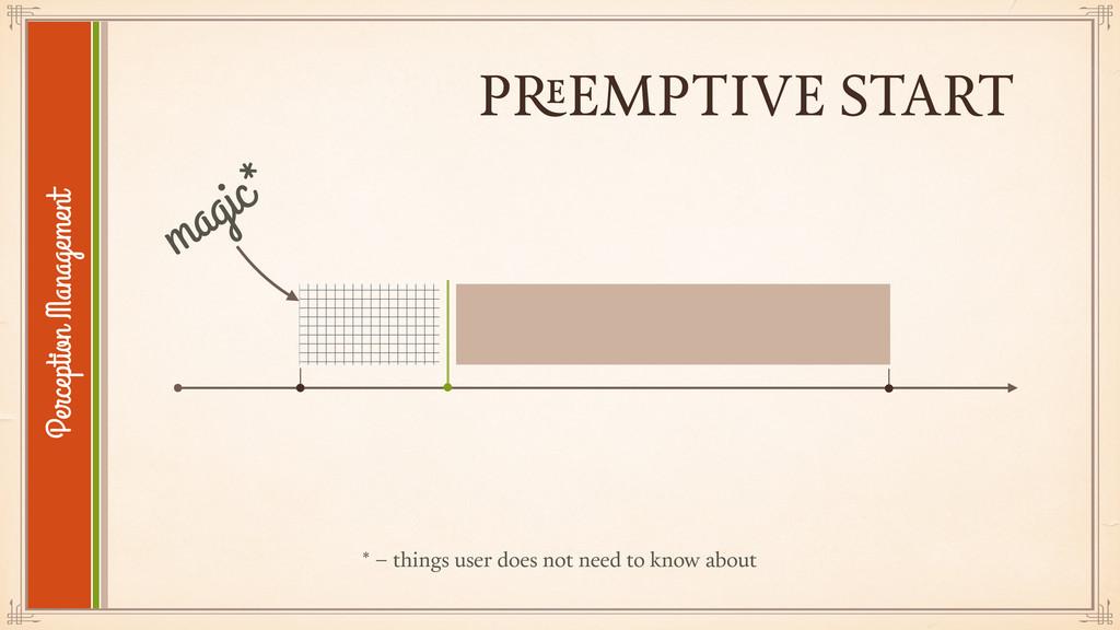 PREEMPTIVE START Perception Management magic* *...