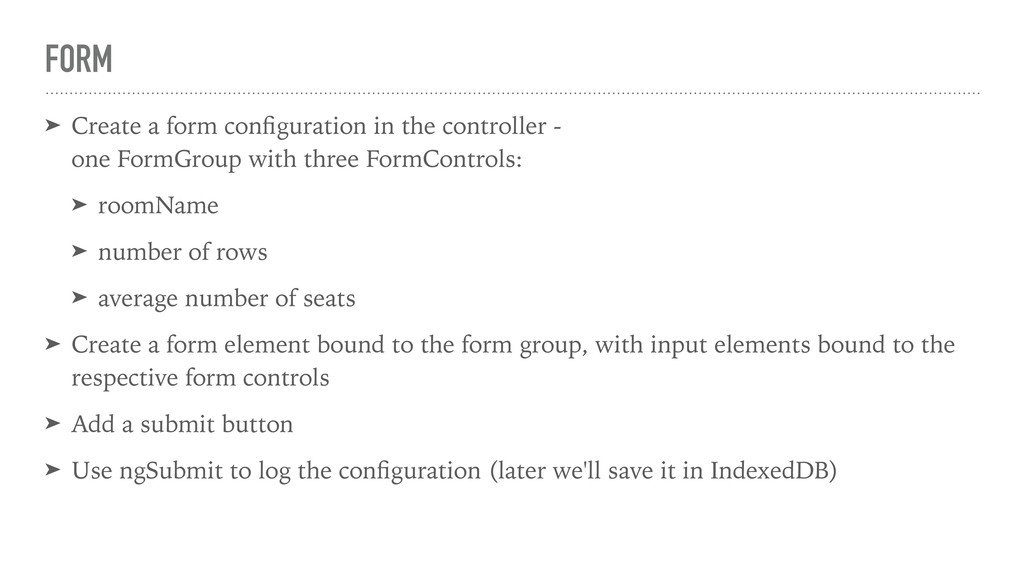 FORM ➤ Create a form configuration in the contro...