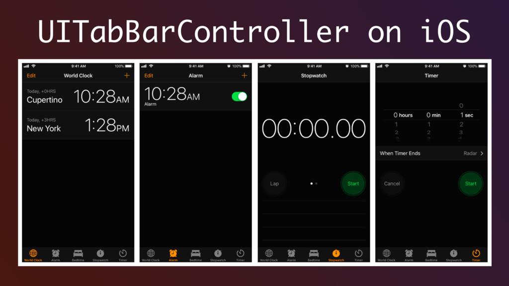 UITabBarController on iOS