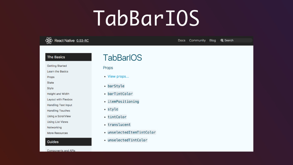 TabBarIOS
