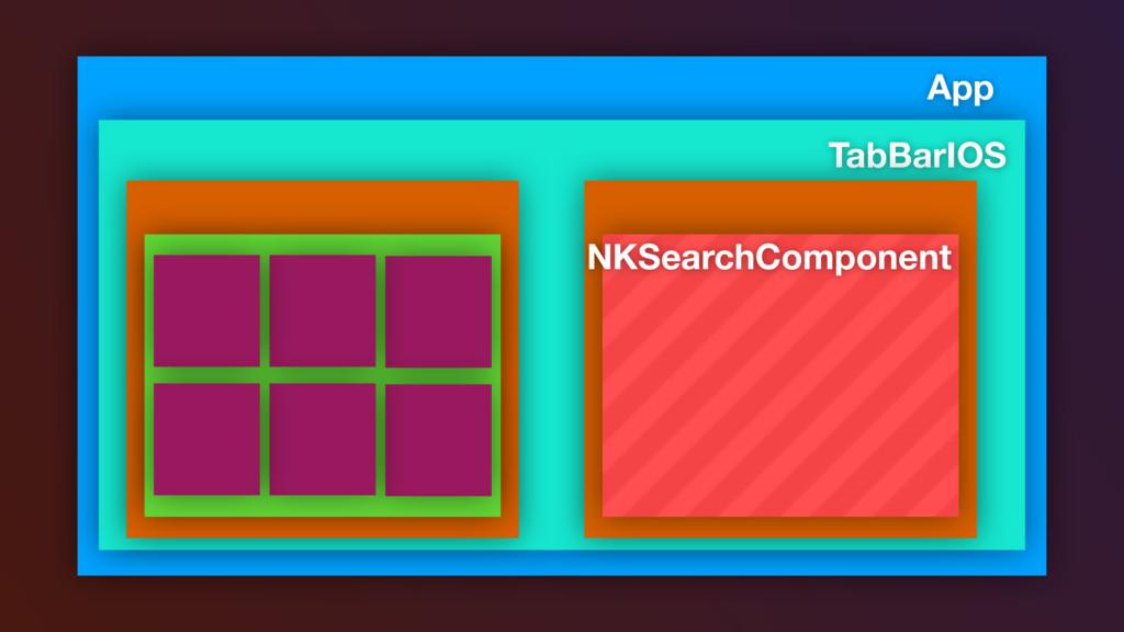 App TabBarIOS NKSearchComponent